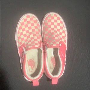 Girls size 1 slip on vans